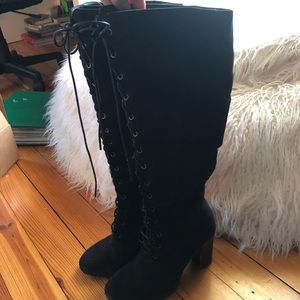 Knee High Black Boots from Forever 21